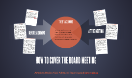 HOW TO COVER THE BOARD MEETING