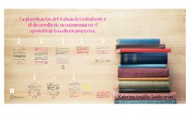 La planificación del trabajo del estudiante y el desarrollo