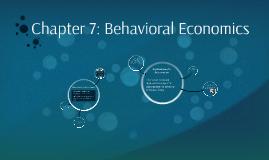 Chapter 7: Economics