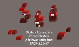 Digitális környezet a köznevelésben