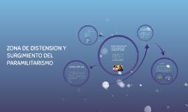ZONA DE DISTENSION Y SURGIMIENTO DEL PARAMILITARISMO