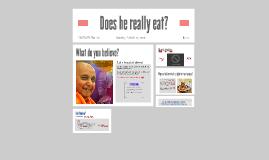 Sabha: Does he really eat?