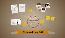 Criminal Law 101