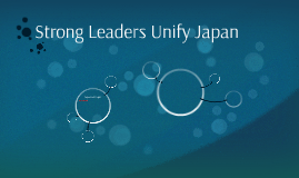 Strong Leaders Unify Japan