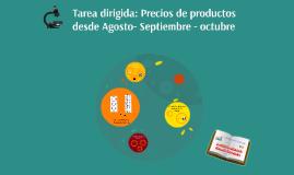 Copy of Lista de precios de los productos: Leche, gasolina de sep. -