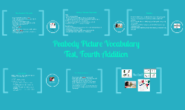 Peabody Picture Vocabulary Test, Fourth Addition