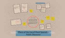 Copy of Effects of the Use of Mock Spanish in Public Discourse