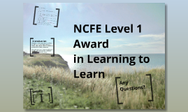 NCFE Level 1 Award in learning to learn
