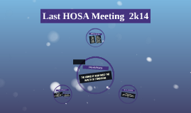 Last HOSA Meeting  2k14