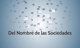 Del Nombre de las Sociedades