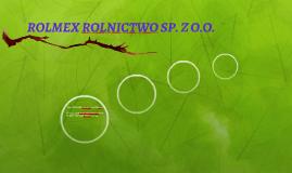 ROLMEX ROLNICTWO SP. Z O.O.