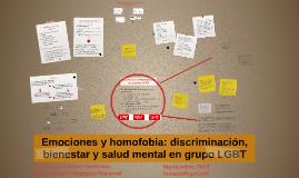 Emociones y homofobia: discriminación, bienestar y salud men