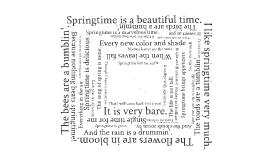 Template: Dizzy Springtime Poem