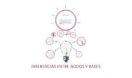 Copy of DIFERENCIAS ENTRE ÁCIDOS Y BASES