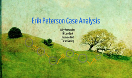 erik peterson a case Case assignment questions: what are the problems facing erik peterson ph comments: - peterson is charged with being the general manager of green mountain cellular and he has no practical experience with the cellular industry.