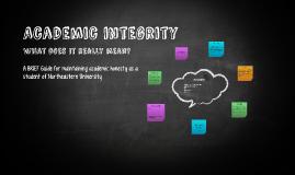Academicintegrity