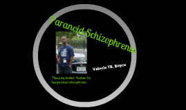 Copy of Paranoid Schizophrenia