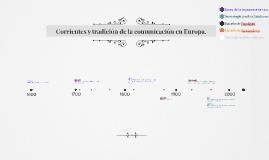Corrientes y tradición de la comunicación en Europa.