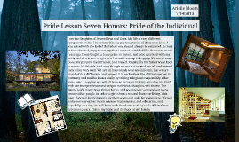 Pride Lesson Seven Honors: Pride of the Individual