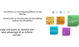 The Effects of Learning Disabilities on the Sibling