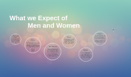 What we Expect of Men and Women