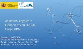 CURSO UPM Aspectos Legales y Financieros de H2020