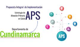 Propuesta APS Cundinamarca