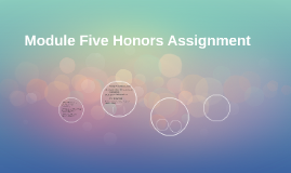 Module Five Honors Assignment