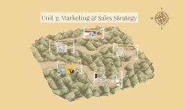 Unit 3: MARKETING & SALES STRATEGY