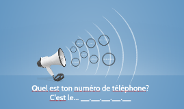 Quel est ton numero de telephone?