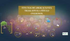 EFECTOS DE OBLIGACIONES TRASLATIVAS A TITULO ONEROSO