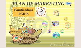 Copia de PLAN DE MARKETING - Panificadora PARIS