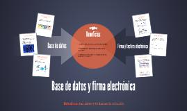 Base de datos y firma electrónica
