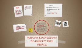 MAQUINA EXPENDEDORA DE ALIMENTO PARA PERROS