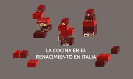 LA COCINA EN EL RENACIMIENTO EN ITALIA