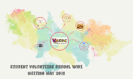 Student Volunteers School Wide meeting May 2015