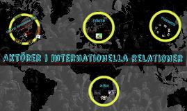 Aktörer i internationella relationer