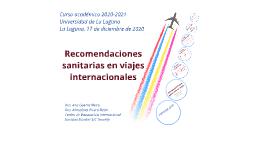 Máster Tropicales ULL - Recomendaciones Sanitarias en viajes internacionales