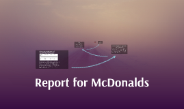 Report for McDonalds