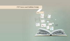 Copy of ESP Course and Syllabus Design