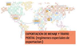 exportacion de menaje y trafico postal
