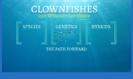 WAMAS PART 2 - Genetics - CLOWNFISH - Wilkerson's Lost Chapters