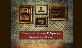 Lineamientos para leer El lugar sin límites de José Donoso