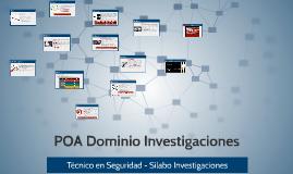 POA Investigaciones- Silabo Investigaciones