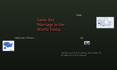 Gay Marriage in the World Today
