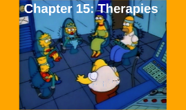 Chapter 15 : Therapies