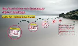 Ilhas Interdisciplinares de Racionalidade: etapas da metodol