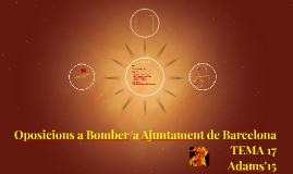 Oposicions a Bomber/a Ajuntament de Barcelona