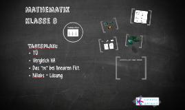 Mathematik Klasse 8 SJ 14/15