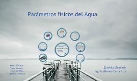 Parámetros físicos del agua